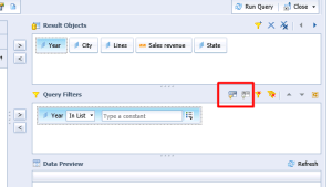 Advanced query panel in Webi